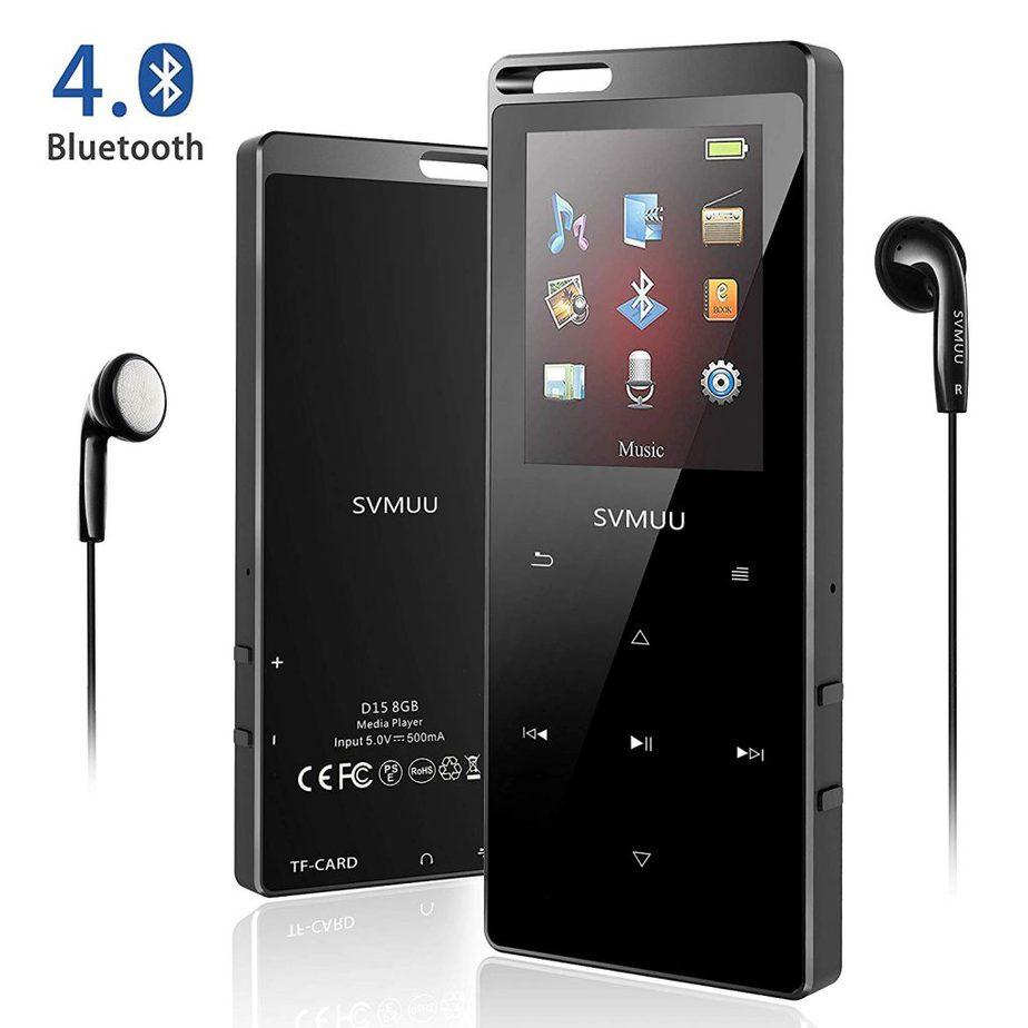 FM Radio Auriculares Soporte SD USB TF hasta 64 GB Tarjeta 16G Reproductor MP3 Bluetooth 4.0 Mibao Reproductor de M/úsica para el Deporte Pantalla TFT de 2.4 Pulgadas